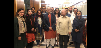 IBA Executive Director hosts dinner in honour of Dr. Ishrat Husain