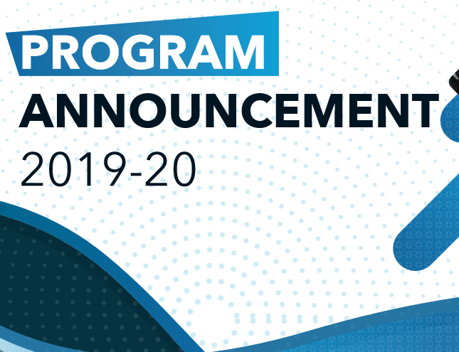 Program Announcement