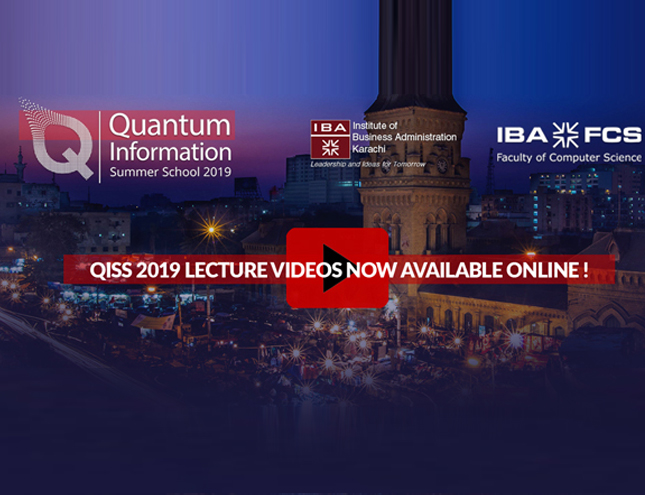 QISS 2019 LECTURE VIDEOS NOW AVAILABLE ONLINE!