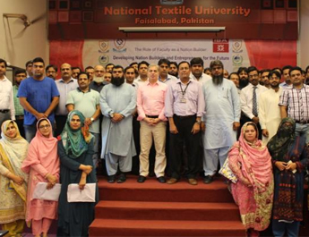 A two days' workshop for Faculty on how to develop & teach the Entrepreneurial Mindset at National Textile University Faisalabad