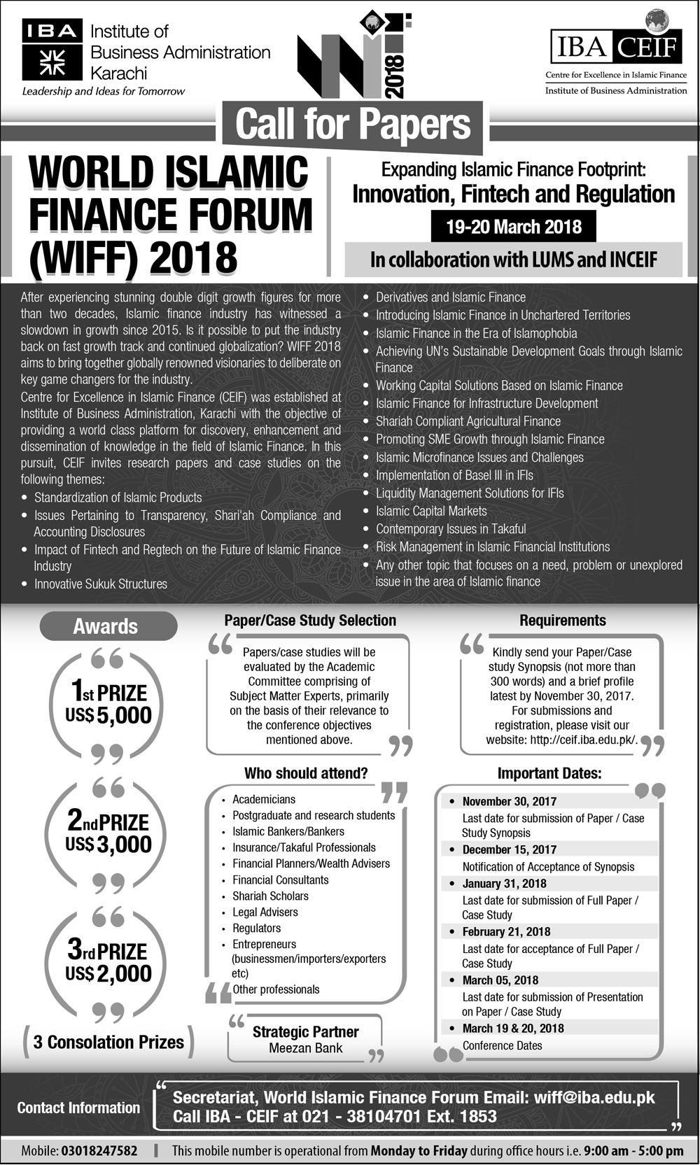 World Islamic Finance Forum 2018