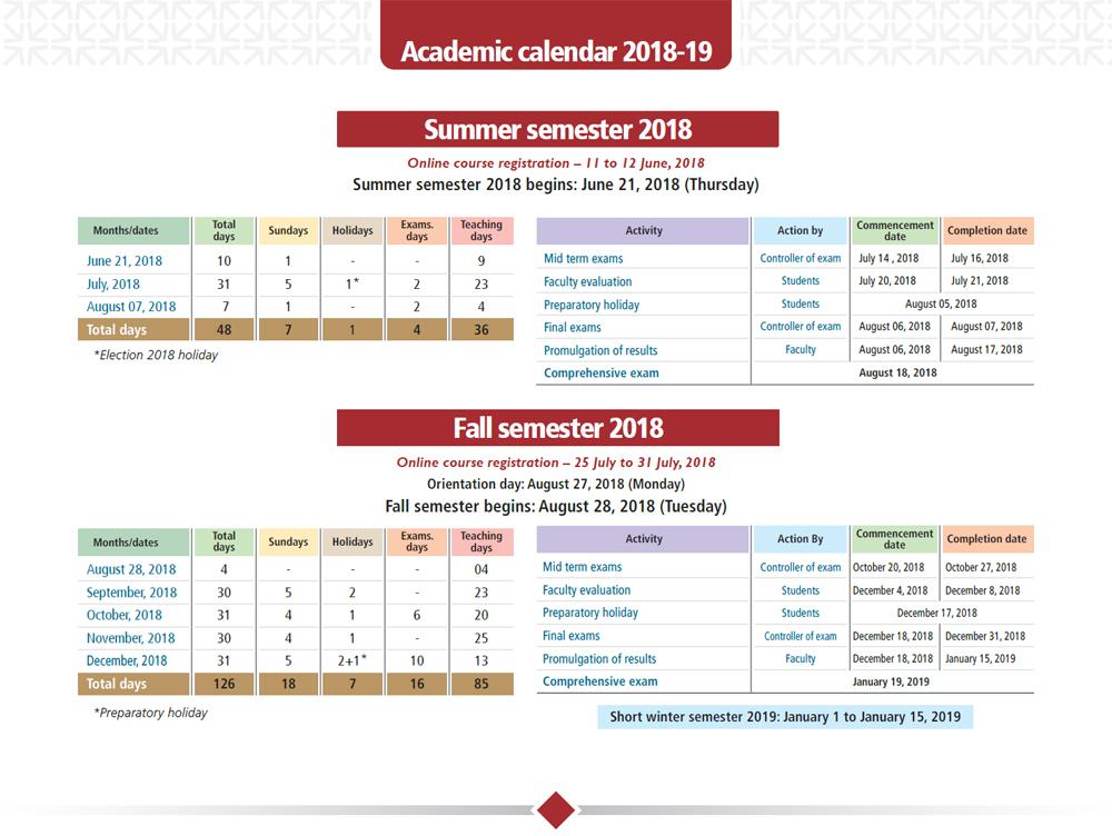 academic calendar academic calendar