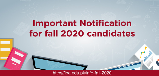 Important Notification for Fall 2020 Candidates
